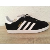 Adidas Gazelle core black/white/gold metallic