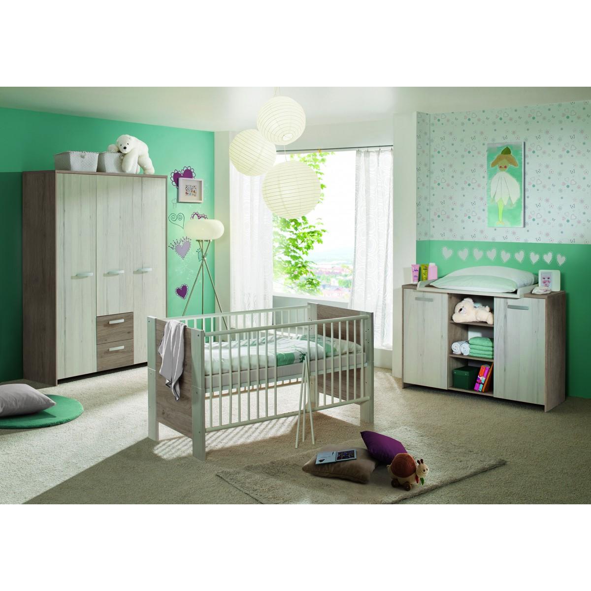 Kinderzimmer lucy eiche grau wei for Kinderzimmer roller