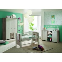 Kinderzimmer Lucy Eiche grau/weiß