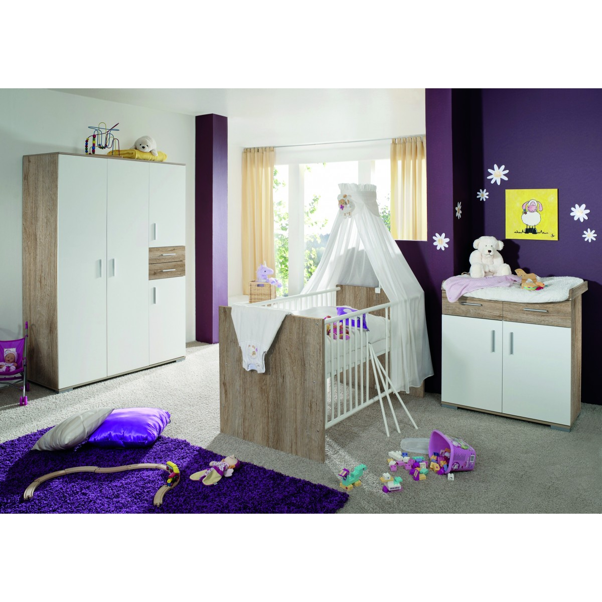 kinderzimmer clara wei. Black Bedroom Furniture Sets. Home Design Ideas