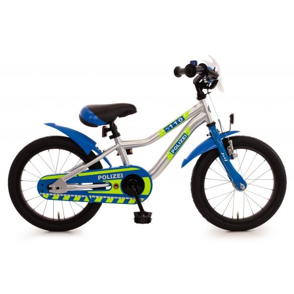 Bachtenkirch Kinder Fahrrad Kuma Polizei blau silber