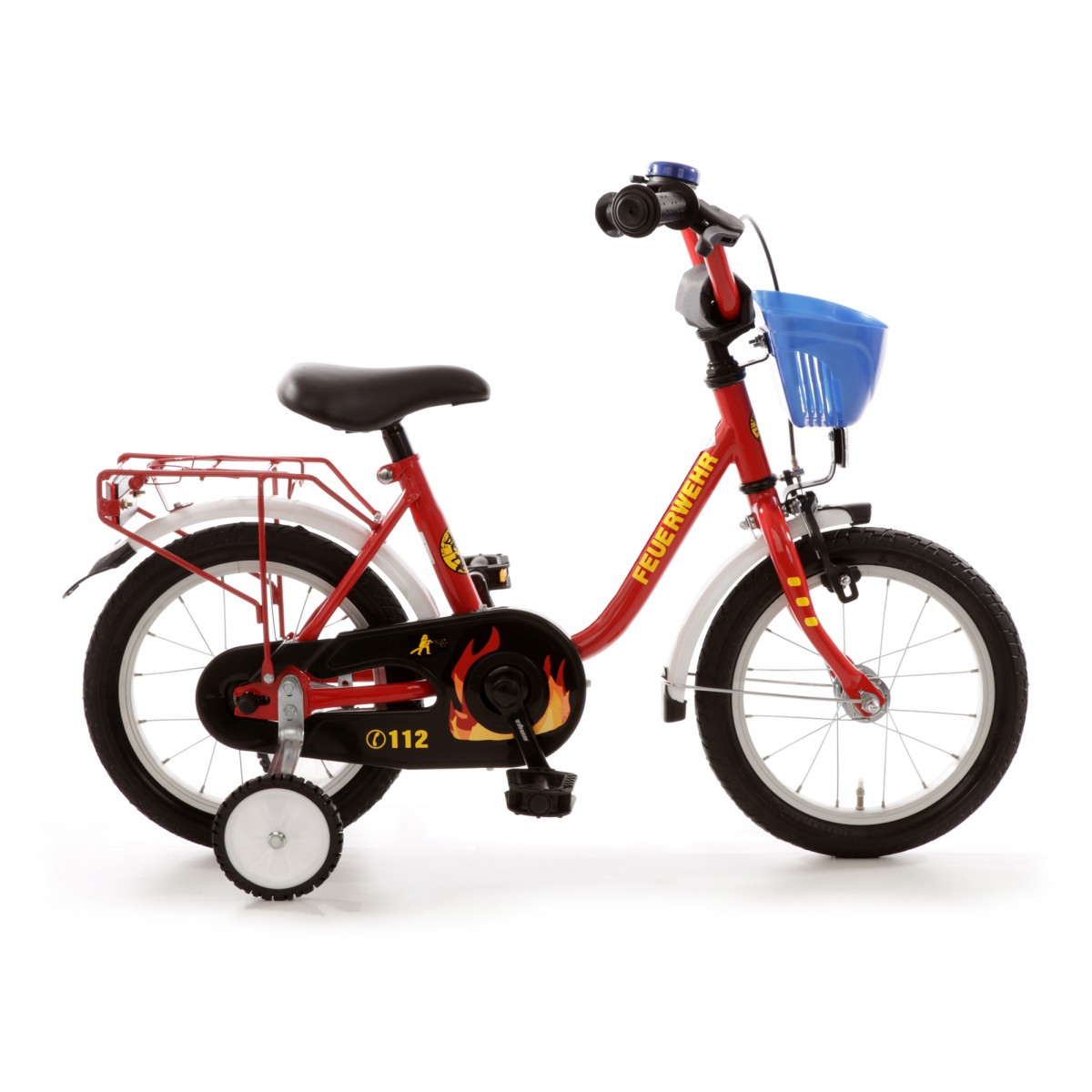 bachtenkirch kinderfahrrad 14 zoll feuerwehr. Black Bedroom Furniture Sets. Home Design Ideas