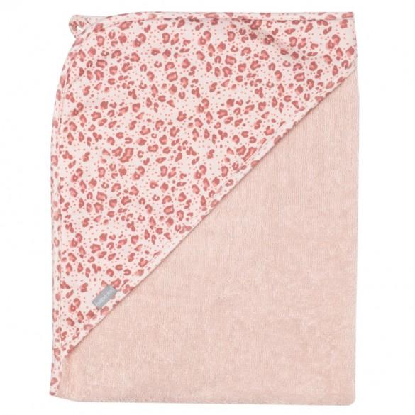 Bébé Jou Kapuzenbadetuch Leopard pink