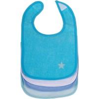 Baby Lätzchen 4er Set blau