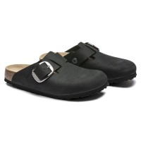 Birkenstock Boston Big Buckle Nubukleder black 1016995