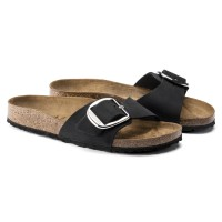 Birkenstock Madrid Big Buckle Nubukleder black