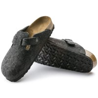 Birkenstock Boston Wollfilz anthrazit