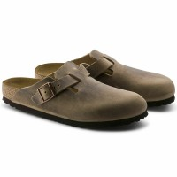 Birkenstock Boston Nubuk tabacco brown
