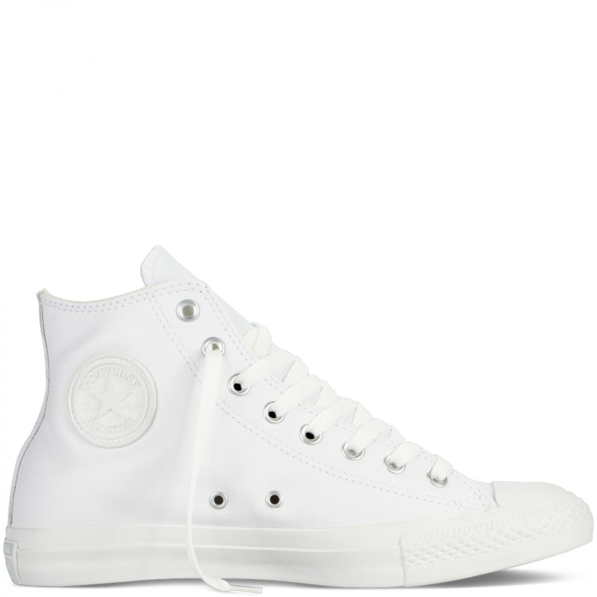 Converse Chuck Taylor All Star Leather Hi White Monochrome 1T406