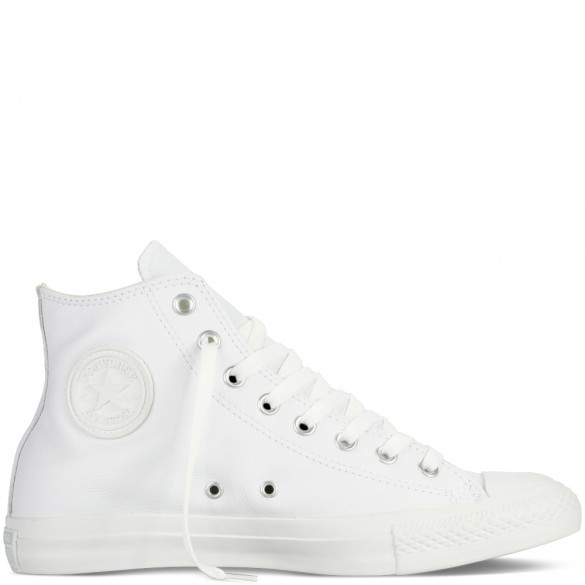 Converse Chuck Taylor All Star Leather Hi White Monochrome 1T406