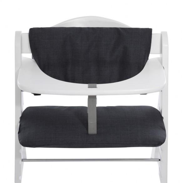 Hauck Highchair Pad Deluxe Sitzauflage Melange Charcoal