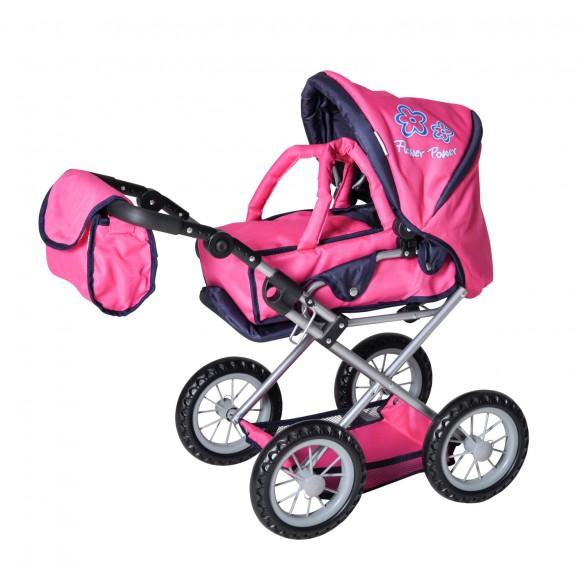 Knorrtoys Puppenwagen Ruby flower power pink