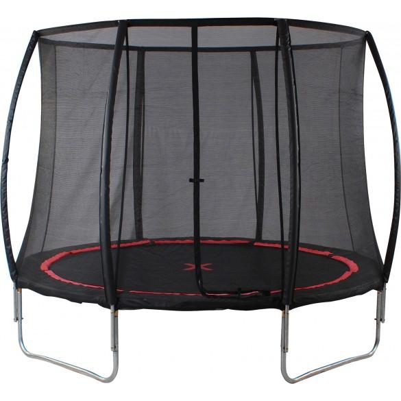 trampolin mit sicherheitsnetz black spider. Black Bedroom Furniture Sets. Home Design Ideas