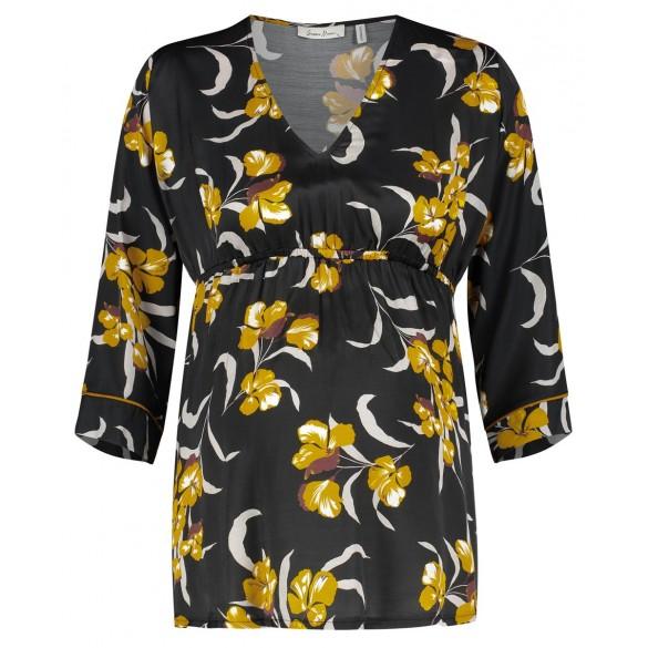 Queen Mum Blumen Bluse