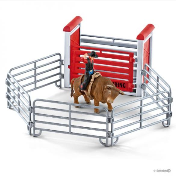 Schleich Bull riding mit Cowboy