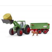 Schleich Traktor mit Anhänger 42379