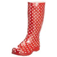 Playshoes Damen Gummistiefel Punkte Rot