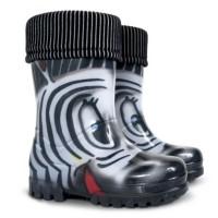 Demar Kinder Gummistiefel Zebra