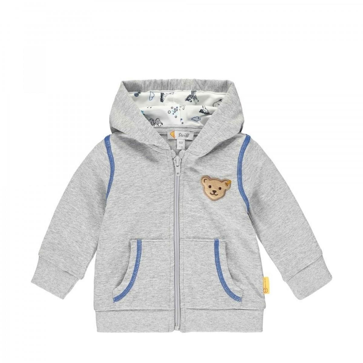 Steiff Baby-Jungen Sweatjacke Sweatshirt