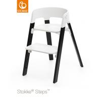 Stokke Steps Oak Wood Eiche Black