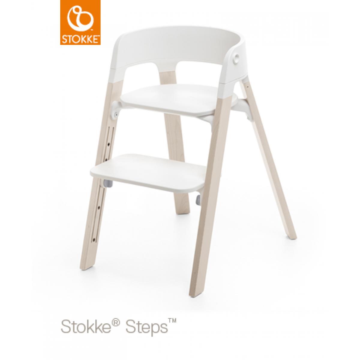 stokke steps white wash. Black Bedroom Furniture Sets. Home Design Ideas