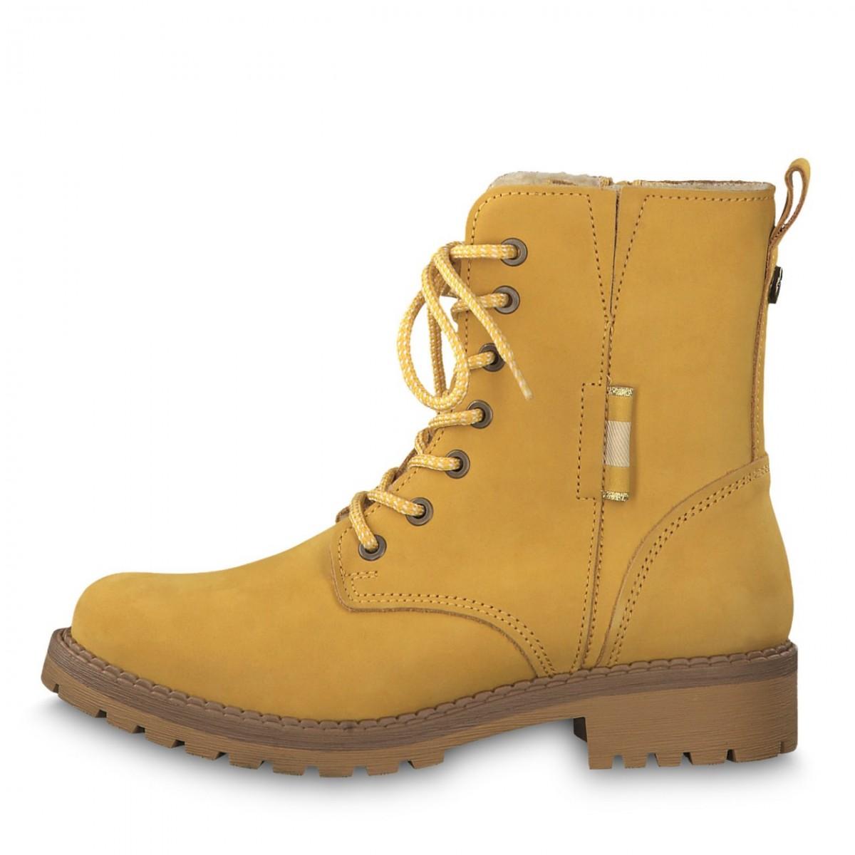 Details zu Tamaris Schuhe gelb Nubuk Leder Warmfutter komfort Damen