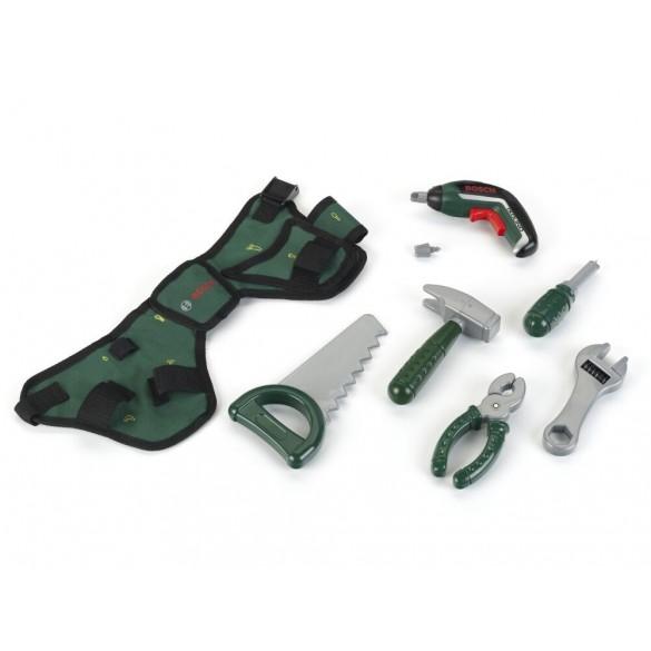 Theo Klein Kinder Werkzeuggürtel mit Akkuschrauber