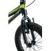 BIKESTAR Kinder Fahrrad Alu Mountainbike V-Bremse 16 Zoll Schwarz & Grün