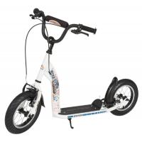 BIKESTAR Tretroller Kinderroller 12 Zoll Sport Edition Weiß