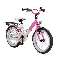 BIKESTAR Premium Sicherheits Kinderfahrrad 16 Zoll ab 4 Jahre Pink Weiß