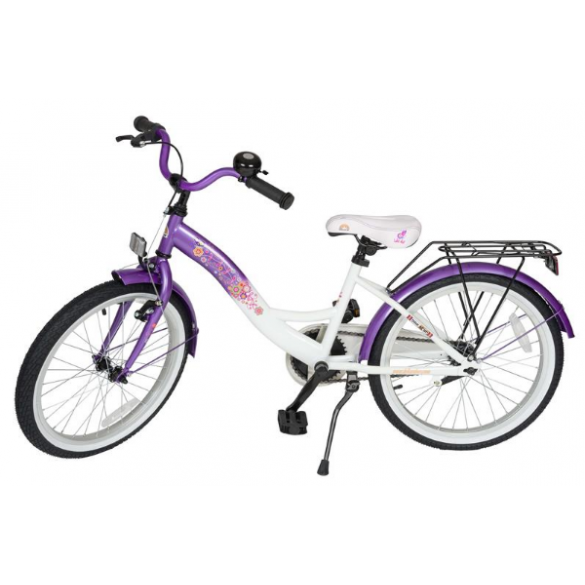BIKESTAR Premium Sicherheits Kinderfahrrad 20 Zoll Lila Weiß