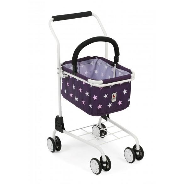 Supermarkt-Einkaufswagen Bayer Chic 2000 Einkaufswagen Dessin Stars lila