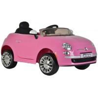 Fiat 500CC Elektroauto mit Fernbedienung rosa 12 Volt