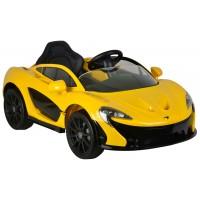 McLaren P1 Gelb Kinder Elektroauto mit Fernbedienung 12 Volt