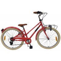 Volare Melody Kinderfahrrad 24 Zoll Pastellrot 6 Gänge Prime Collection