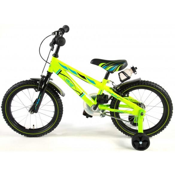 Volare Electric Green Kinderfahrrad 16 Zoll Grün mit 2 Handbremsen