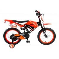 Volare Motorrad Kinderfahrrad 16 Zoll Orange