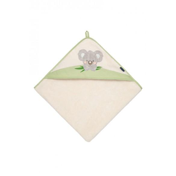 Morgenstern Kapuzenbadetuch Koala grün