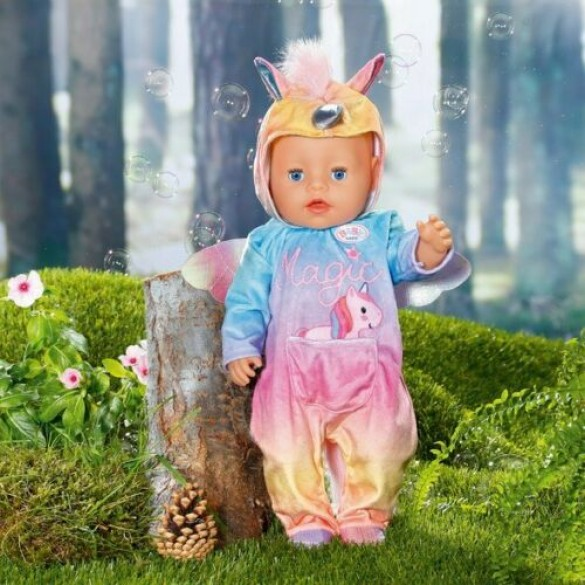 Baby born Einhorn Kuschelanzug 43 cm Zapf Creation