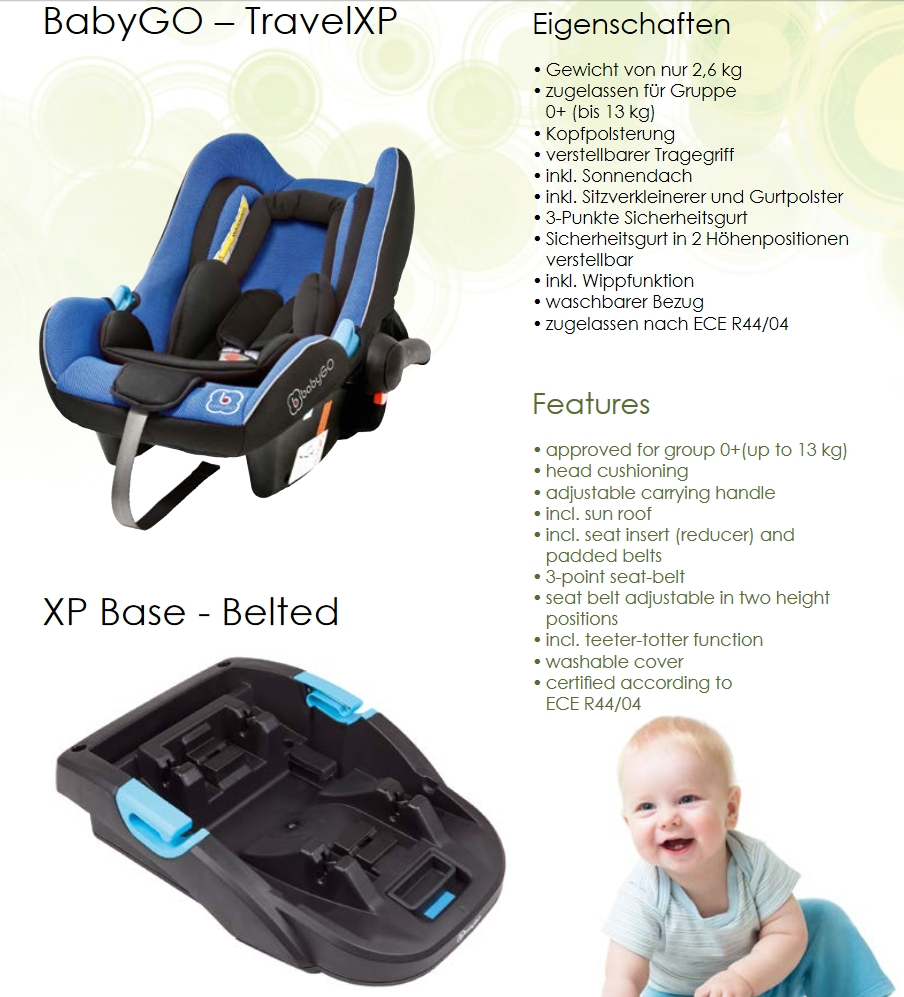 babyschale babygo autositz baby travel xp blau 0 13kg. Black Bedroom Furniture Sets. Home Design Ideas