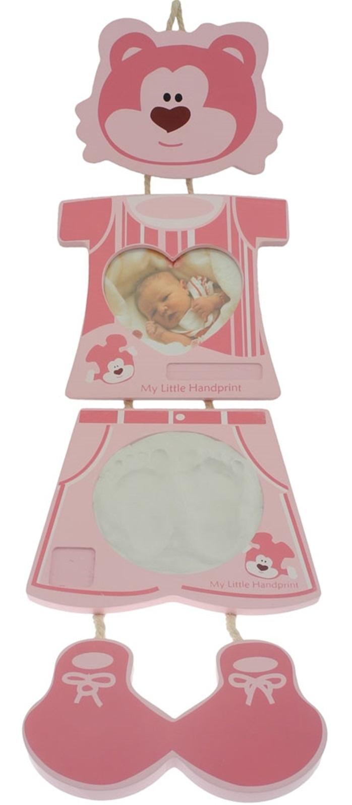 Bilderrahmen Bieco Baby Gipsabdruck Bär Rosa Abdruckset Fotorahmen ...