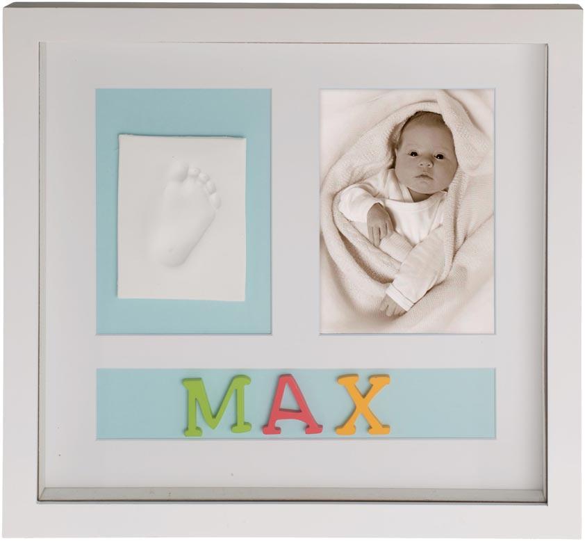 Bilderrahmen Bieco Gipsabdruck Fußabdruck Rahmen Babybilderrahmen ...