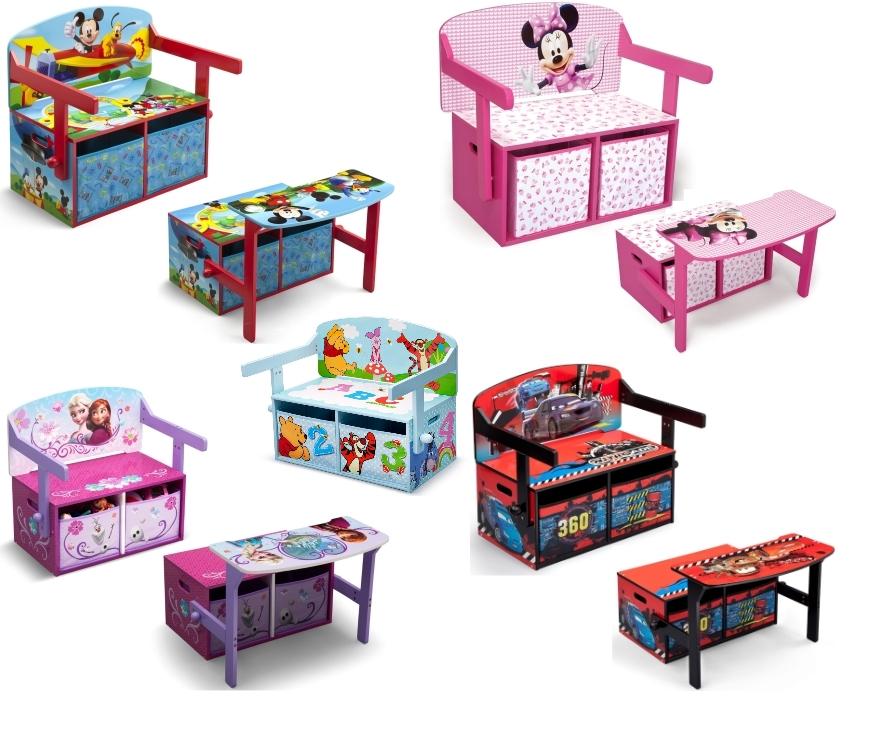 kindersitzbank disney truhe spielzeugtruhe spielzeugkiste. Black Bedroom Furniture Sets. Home Design Ideas