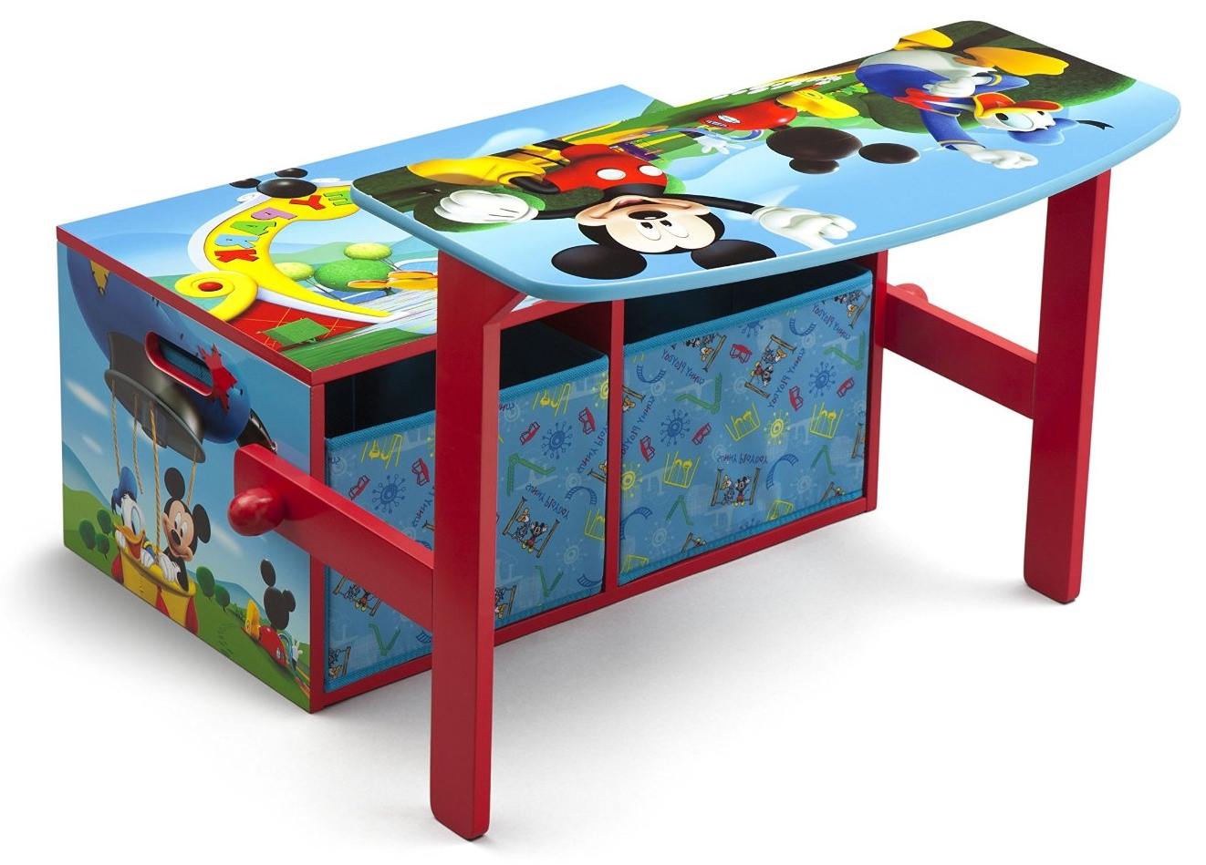 kinderbank disney bank mickey mouse 3 in 1 aufbewahrung sitzbank spielzeugkiste 80213029579 ebay. Black Bedroom Furniture Sets. Home Design Ideas