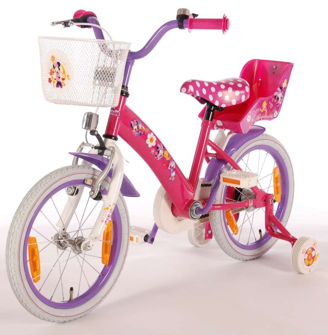 kinderfahrrad disney minnie mouse 16 zoll st tzr der. Black Bedroom Furniture Sets. Home Design Ideas