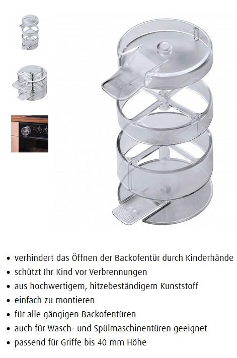 Reer Backofentürstopp Universal transparent 7805.9 NEU