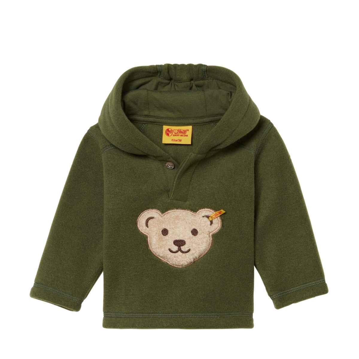 Details zu Steiff Jungen Sweatshirt Pullover Fleece Grün 6843573 Quitscher Gr. 80 104 NEU