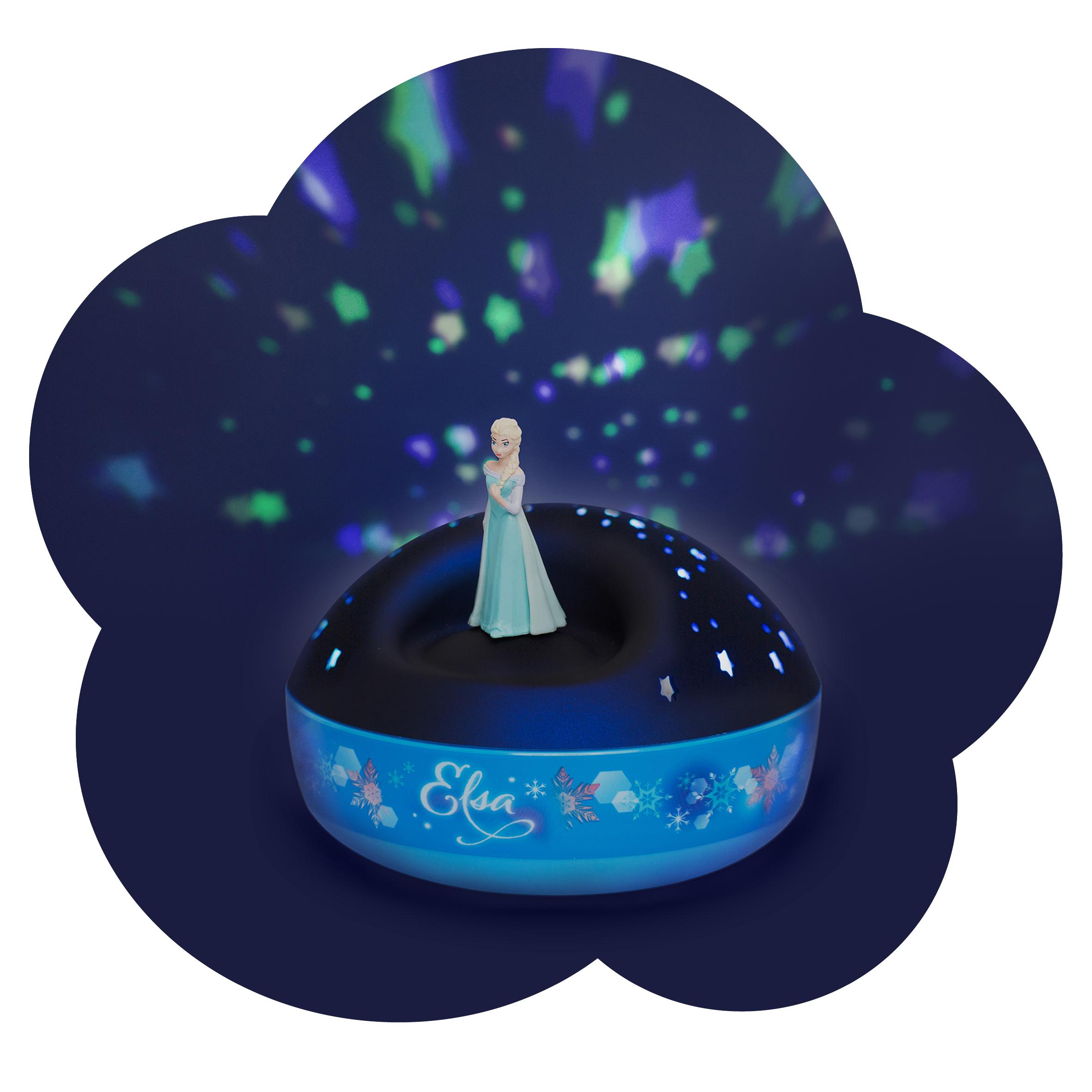 Details zu Sternen Projektor Nachtlicht Lampe mit Musik Trousselier Frozen Elmar Prinz neu